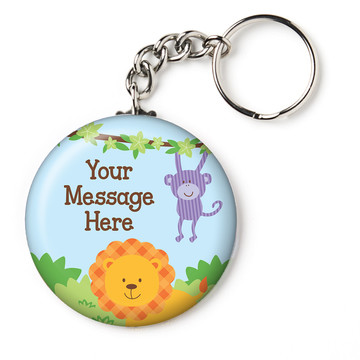 "Forest Friends Personalized 2.25"" Key Chain (Each)"