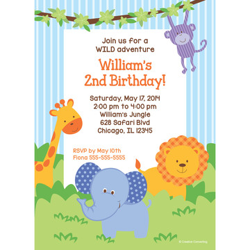 Forest Friends Personalized Invitation (Each)