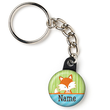 "Fox Personalized 1"" Mini Key Chain (Each)"