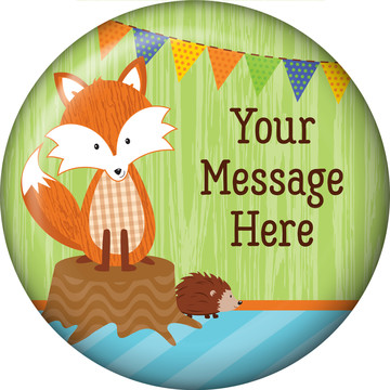 Fox Personalized Button (Each)