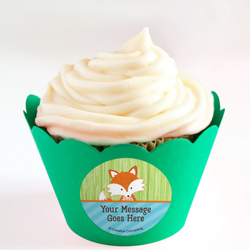 Fox Personalized Cupcake Wrappers (Set of 24)