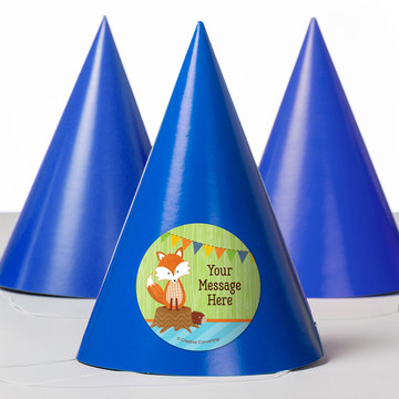 Fox Personalized Party Hats (8 Count)