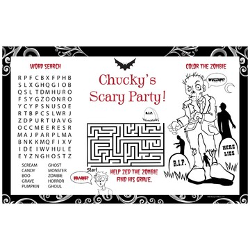 Fright Night Personalized Activity Mat (8 pack)