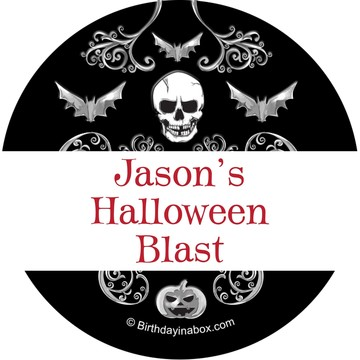 Fright Night Personalized Stickers (Sheet of 12)