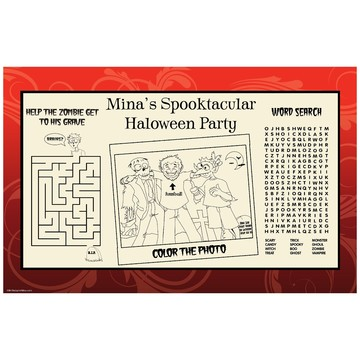 Frightful Personalized Activity Mat (8 pack)