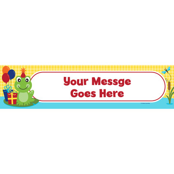 Frog Pond Fun Personalized Banner (Each)