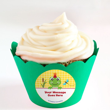 Frog Pond Fun Personalized Cupcake Wrappers (Set of 24)