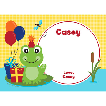 Frog Pond Fun Personalized Thank You (Each)