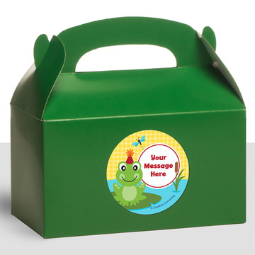 Frog Pond Fun Personalized Treat Favor Boxes (12 Count)