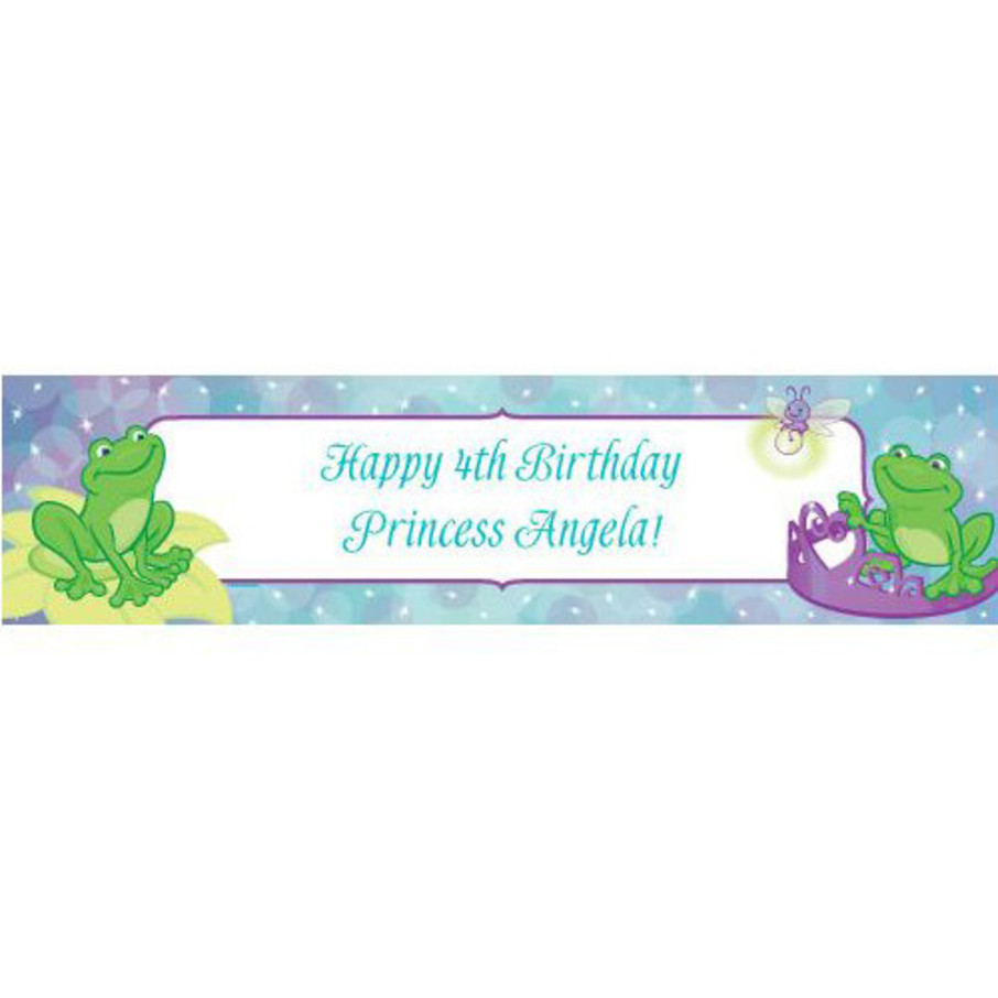 View larger image of Frog Princess Personalized Banner (each)