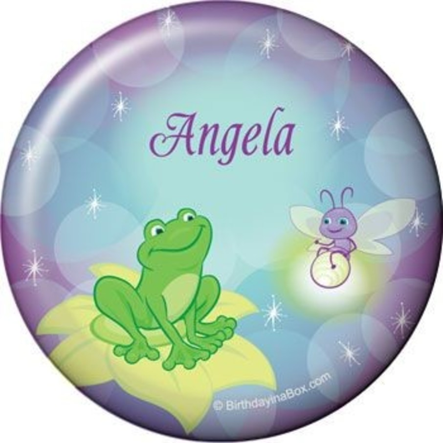 View larger image of Frog Princess Personalized Button (each)