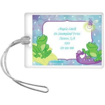 Frog Princess Personalized Luggage Tag (each)