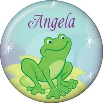 Frog Princess Personalized Mini Button (each)