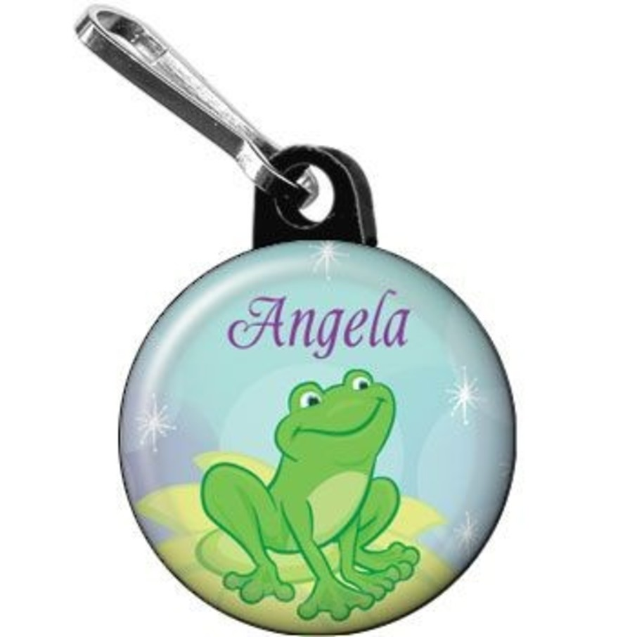View larger image of Frog Princess Personalized Mini Zipper Pull (each)