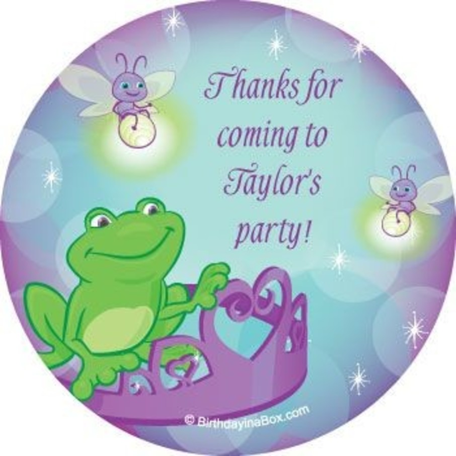 View larger image of Frog Princess Personalized Stickers (sheet of 12)