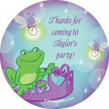Frog Princess Personalized Stickers (sheet of 12)