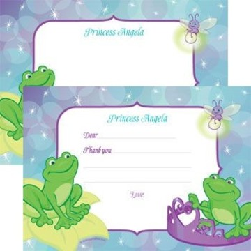 Frog Princess Personalized Thank You Note (each)