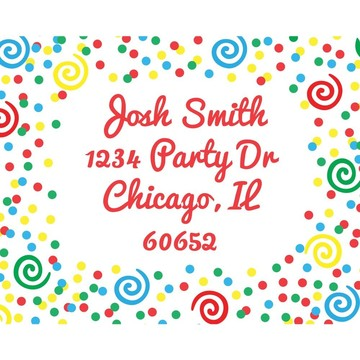 Frosted Cake Address Labels (Sheet Of 15)