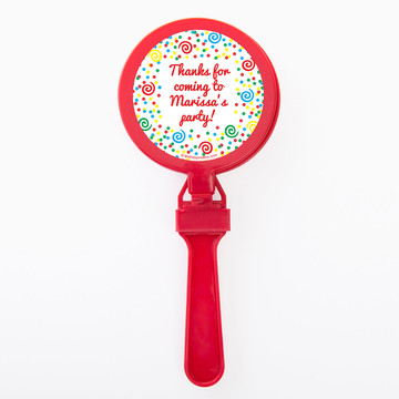 Frosted Cake Personalized Clappers (Set Of 12)