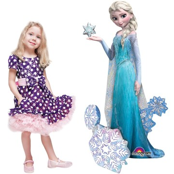 "Frozen Elsa 57"" Airwalker Balloon (Each)"