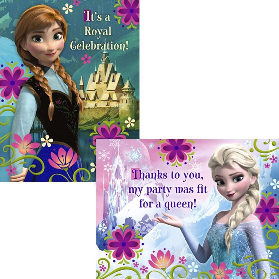 View larger image of Frozen Invitation and Thank You (16 Pack)