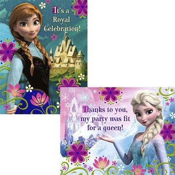 Frozen Invitation and Thank You (16 Pack)