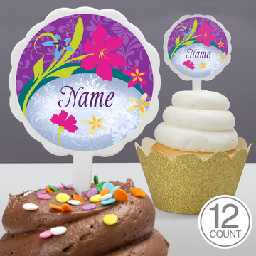 Frozen Personalized Cupcake Picks (12 Count)