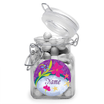 Frozen Personalized Glass Apothecary Jars (12 Count)