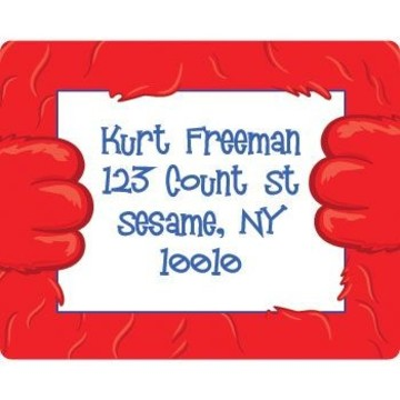 Fuzzy Friends 1st Birthday Personalized Address Labels (sheet of 15)