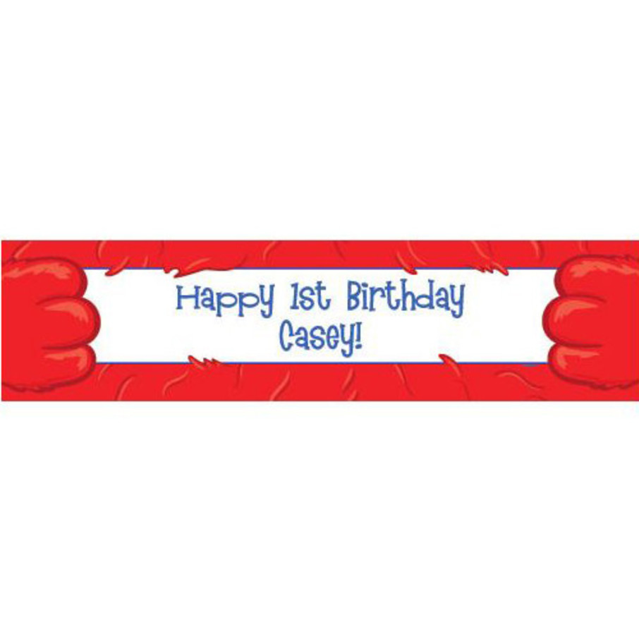 View larger image of Fuzzy Friends 1st Birthday Personalized Banner (each)