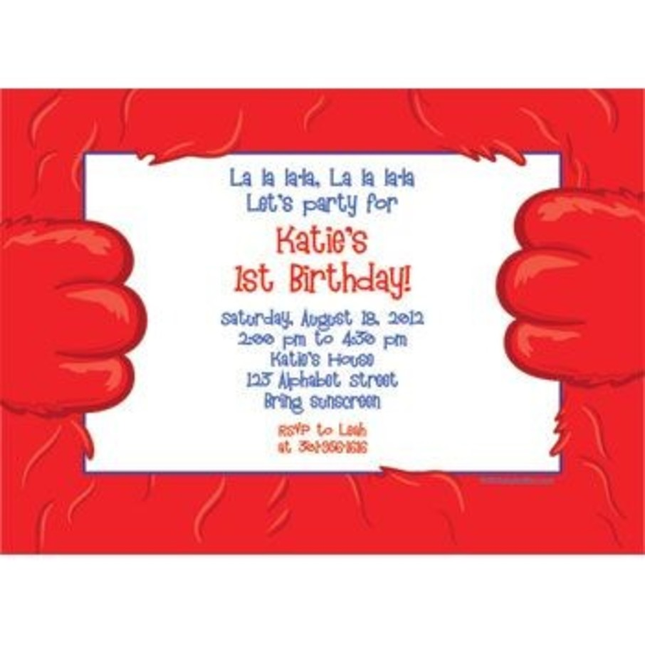 View larger image of Fuzzy Friends 1st Birthday Personalized Invitation (each)