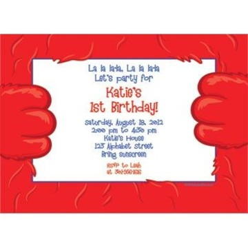 Fuzzy Friends 1st Birthday Personalized Invitation (each)