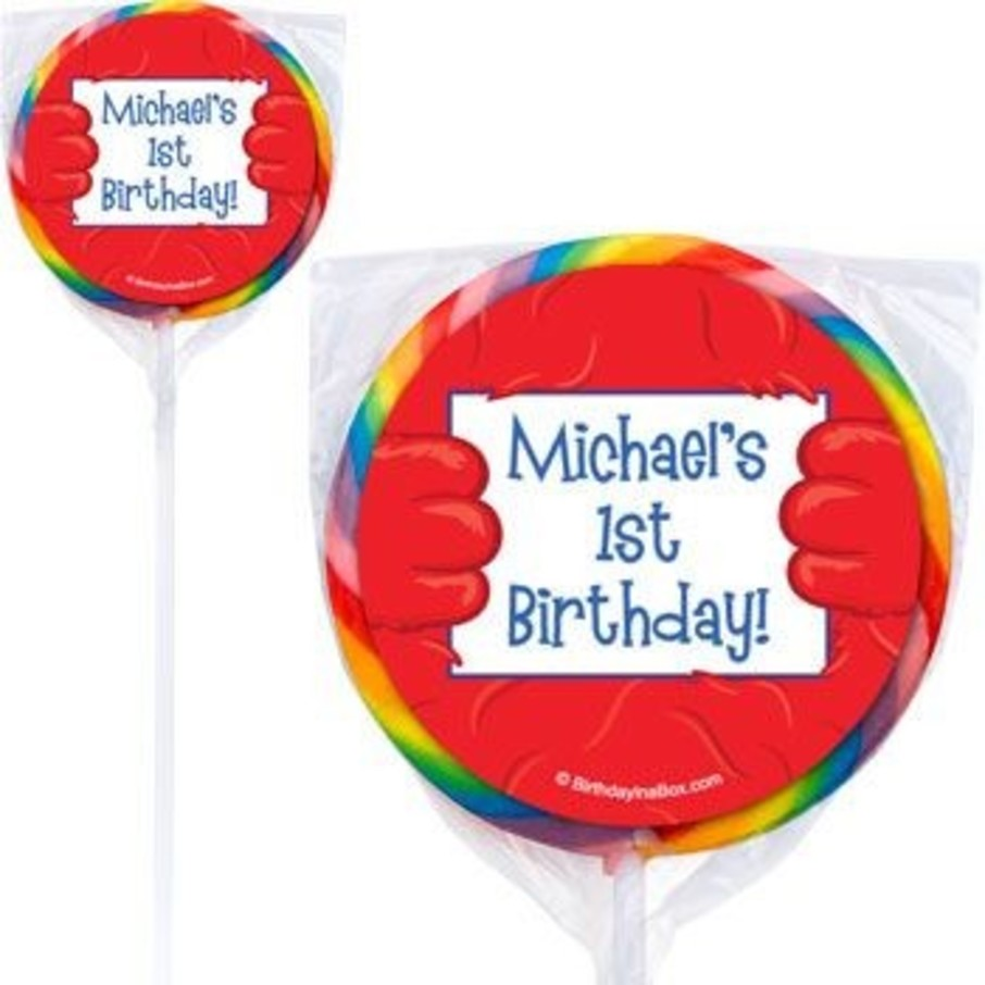 View larger image of Fuzzy Friends 1st Birthday Personalized Lollipops (pack of 12)