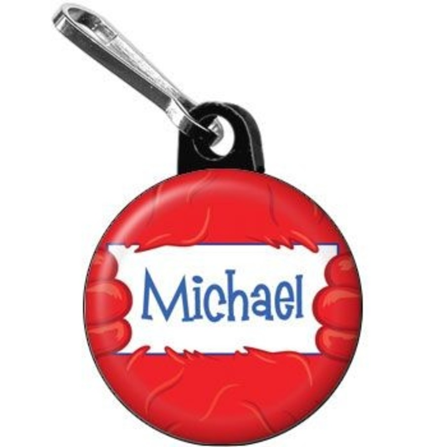 View larger image of Fuzzy Friends 1st Birthday Personalized Mini Zipper Pull (each)