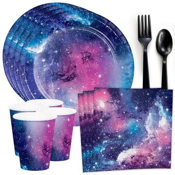 Galaxy Party Standard Tableware Kit (Serves 8)