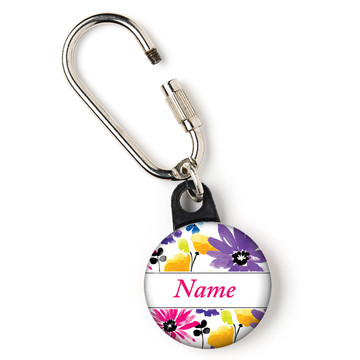"Garden Blooms Personalized 1"" Carabiner (Each)"