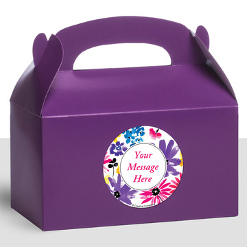 Garden Blooms Personalized Treat Favor Boxes (12 Count)
