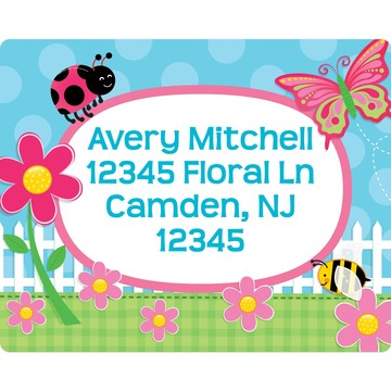 Garden Party Personalized Address Labels (Sheet Of 15)