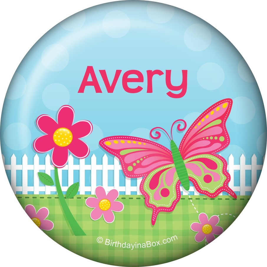 View larger image of Garden Party Personalized Button (each)