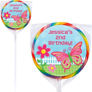 Garden Party Personalized Lollipops (pack of 12)