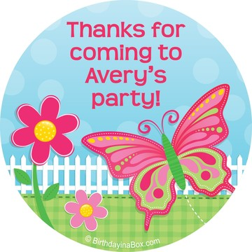 Garden Party Personalized Stickers (Sheet Of 12)
