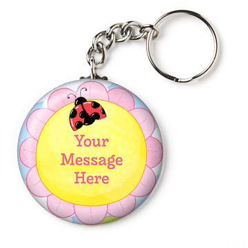 "Garden Personalized 2.25"" Key Chain (Each)"