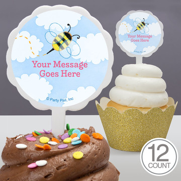 Garden Personalized Cupcake Picks (12 Count)