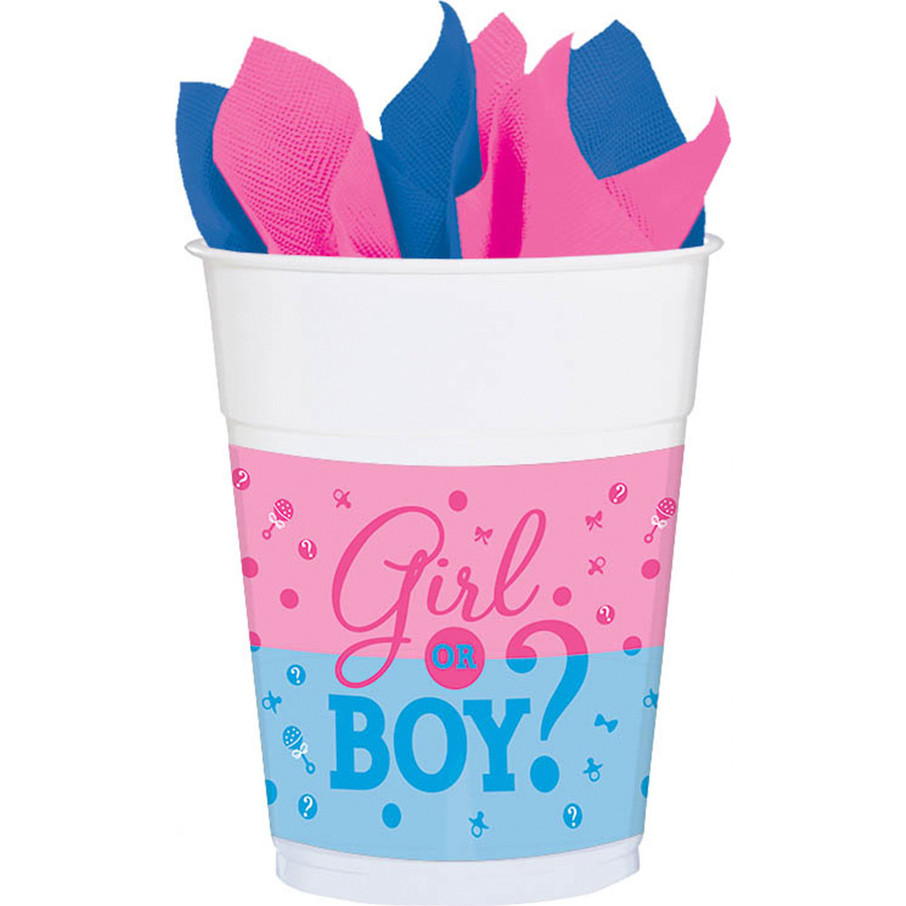 View larger image of Gender Reveal 16oz Plastic Cups (25 Count)