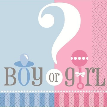 Gender Reveal Beverage Napkins (24 Pack)