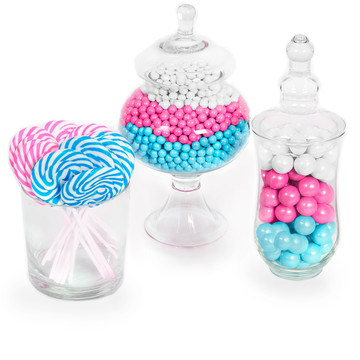 Gender Reveal Candy Kit Pink, Blue, White