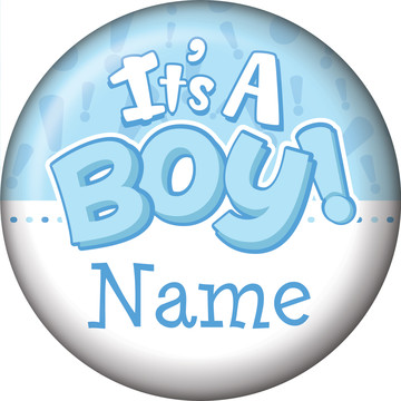 Gender Reveal: It's a Boy Personalized Mini Button (Each)
