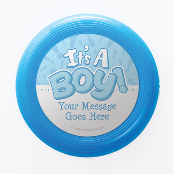 Gender Reveal: It's a Boy Personalized Mini Discs (Set of 12)
