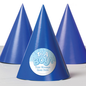 Gender Reveal: It's a Boy Personalized Party Hats (8 Count)