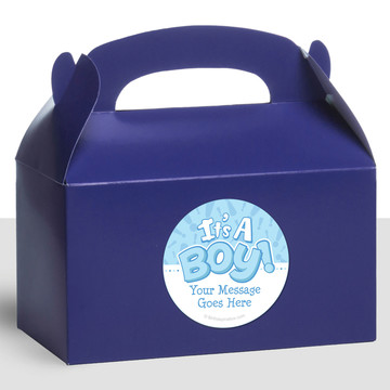 Gender Reveal: It's a Boy Personalized Treat Favor Boxes (12 Count)